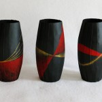 Red and gold vases