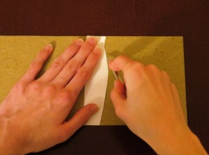 Scoring curved folds with a cardstock template