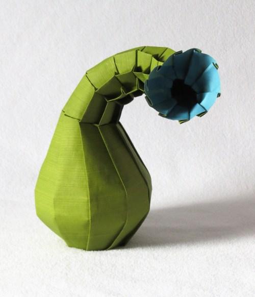 Curved-neck vase