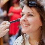 Bridal makeup artist at work | Make up and hair by Rebecca Anderton in Manchester at rebeccaanderton.co.uk