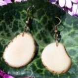 Natural Tagua Nut Earrings