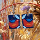 Dove Tin Earrings