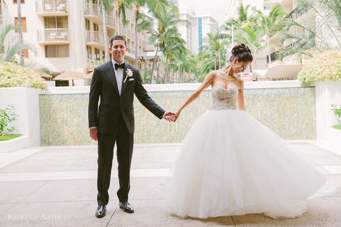 Honolulu Hawaii Private Estate Fine Art Wedding