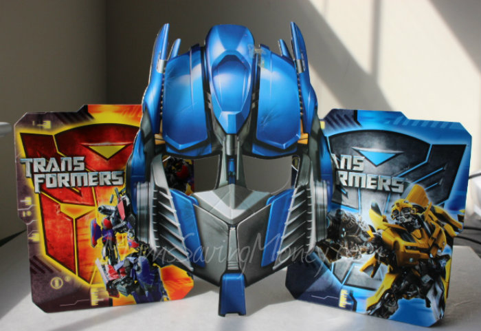 Transformer Mask and Table Decorations