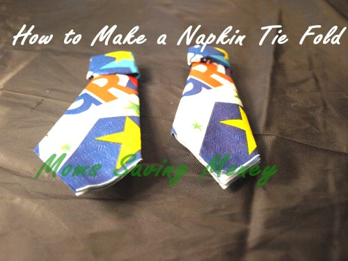 how to make a Napkin Tie Fold