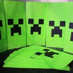 Minecraft Creeper Favor Bags