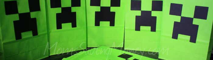Minecraft Favor Bag Tutorial