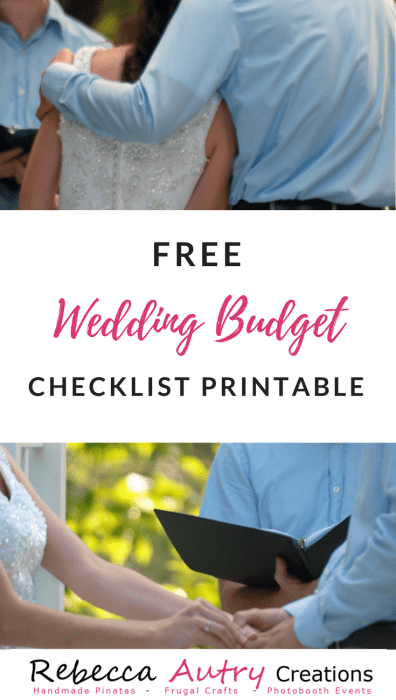 Wedding Budget Checklist Printable