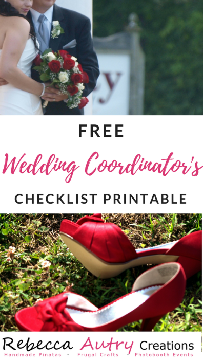 Wedding Coordinator's Checklist Printable
