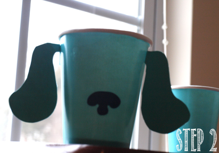 Blues Clues Cup Tutorial step 2