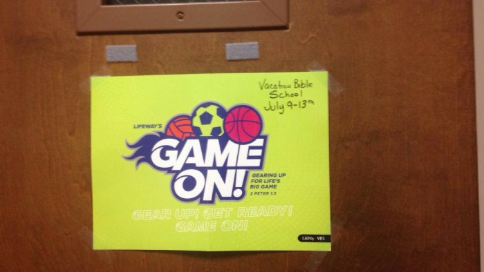 Game On VBS Advertisement July date