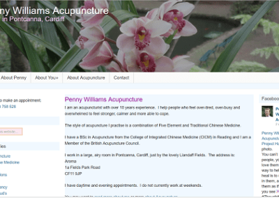 Penny Williams, Acupuncture