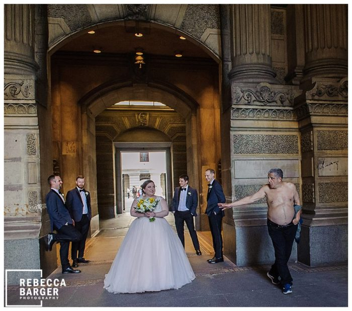 homeless wedding photo philly