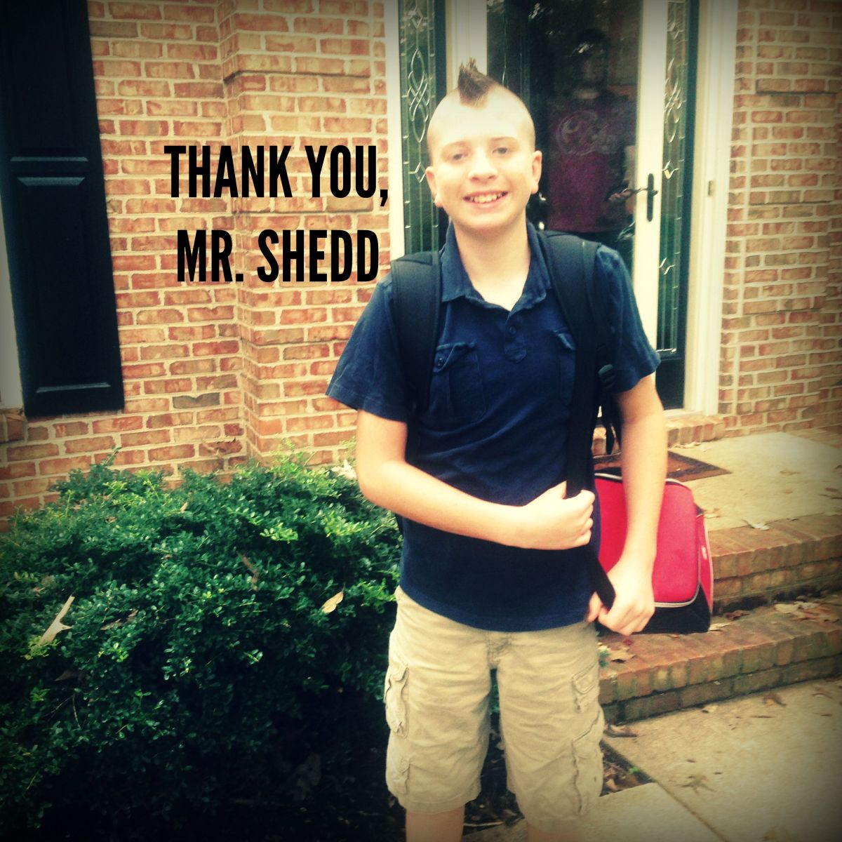 THANK YOU, MR. SHEDD
