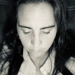 Rebecca Burtram head bowed praying