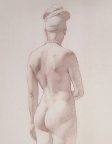 Rebecca C Gray, Shay Standing Back View, detail, 2014.