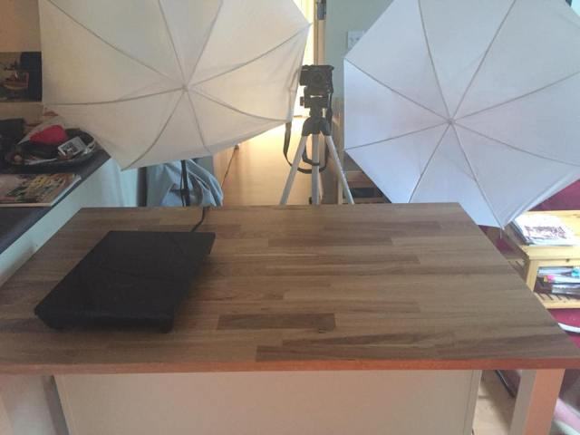 Food vlogging setup