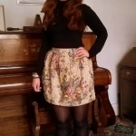 Outfit of the Week Curtain Mini Skirt