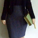 tube skirt crepe blazer black outfit suede shoes orange retro