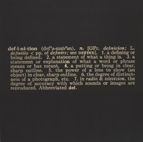 "Titled (Art as Idea as Idea) The Word ""Definition"" (1966-68)"