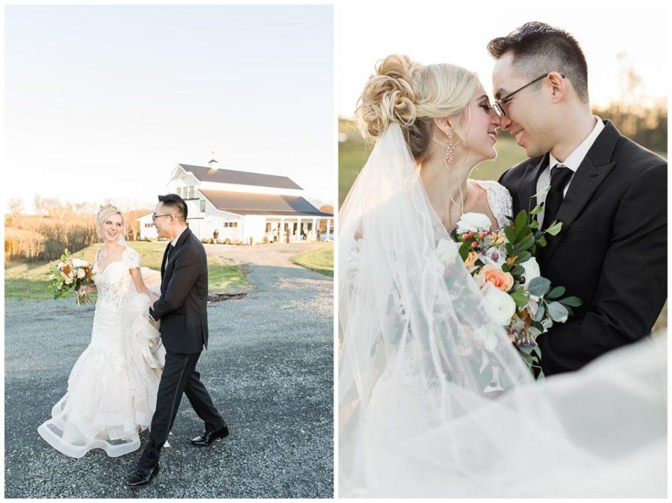 The Barn at Willow Brook. Leesburg, Virginia wedding. Bride and Groom.