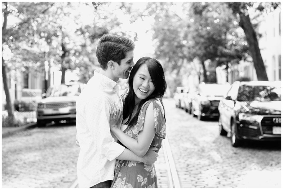 Black and White Engagement.
