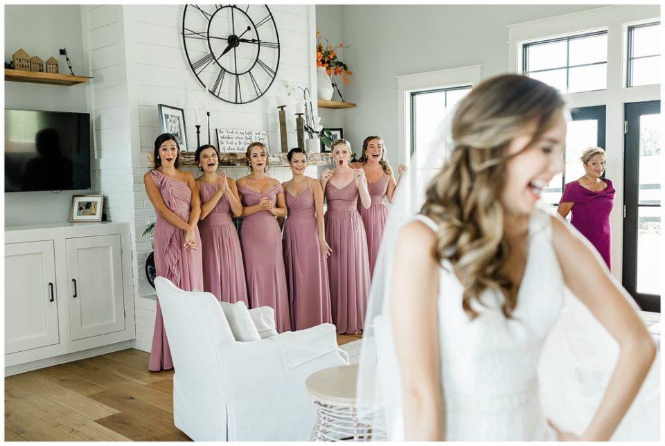 Virginia. Bridesmaids. First look.