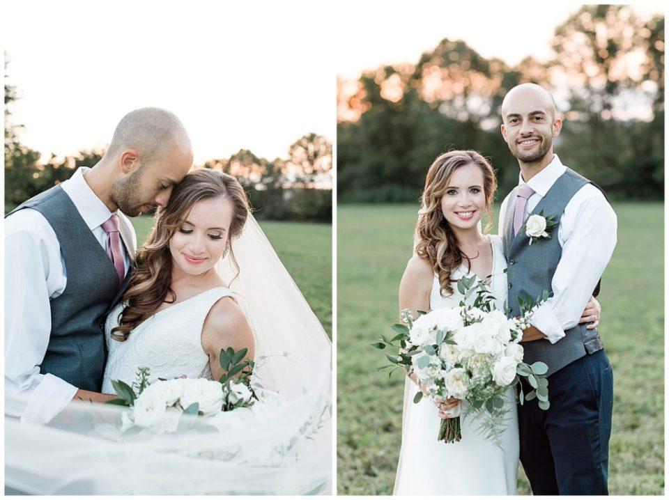 Happy couple. Wedding. Leesburg, Virginia.