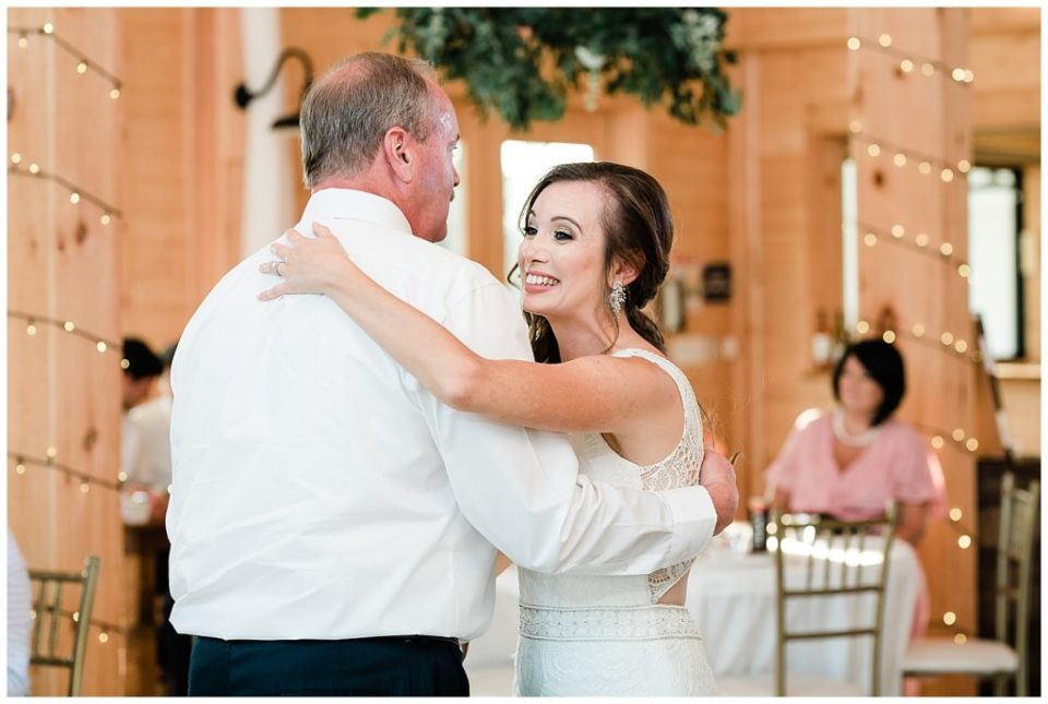 Father and daughter. Dance.