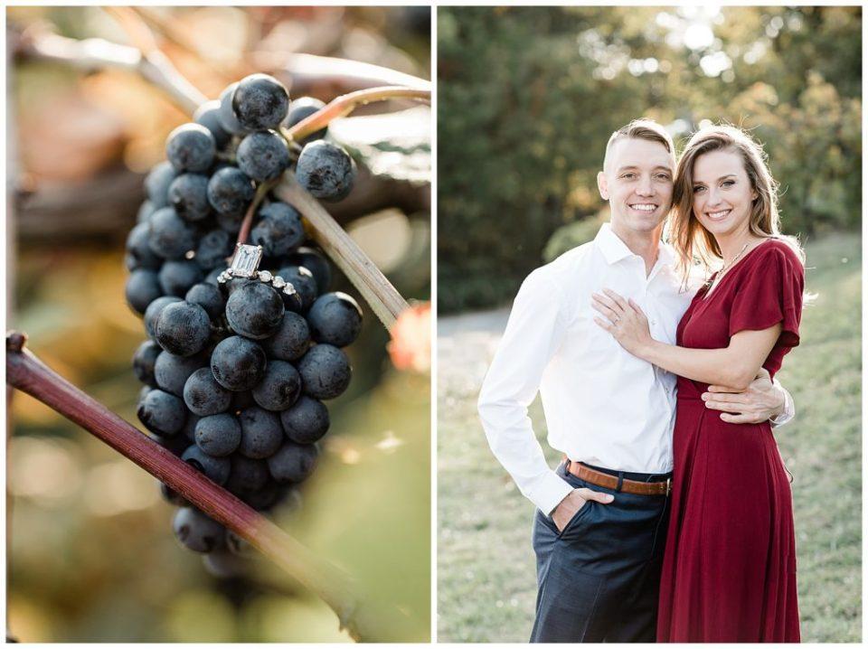 Engagement ring. Vineyard. Virginia.