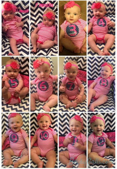 1st year photo composite of Blakely