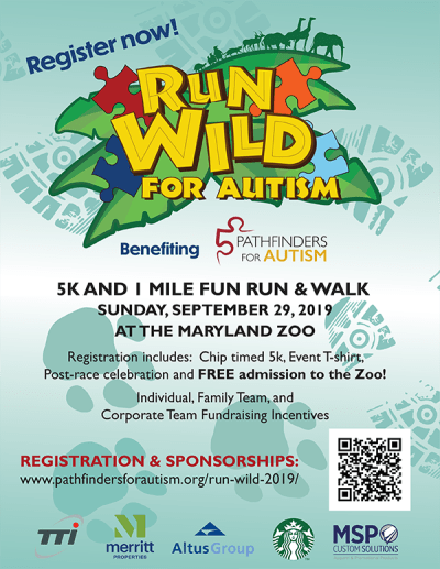 Pathfinders for Autism 9th Annual Run Wild for Autism 5K Race & 1 Mile Fun Run/Walk