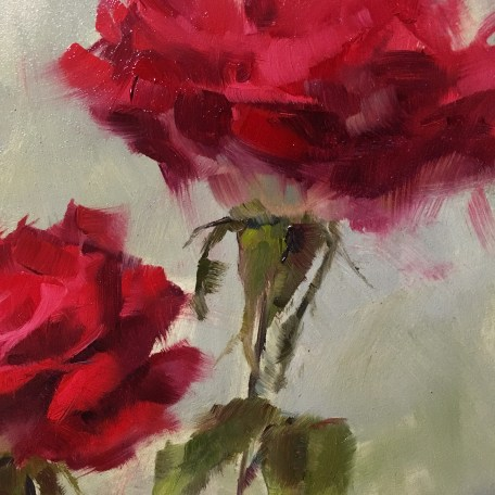 I love adding those shades of olive green and the little leave flairs on the underside of roses. So FUN!!!