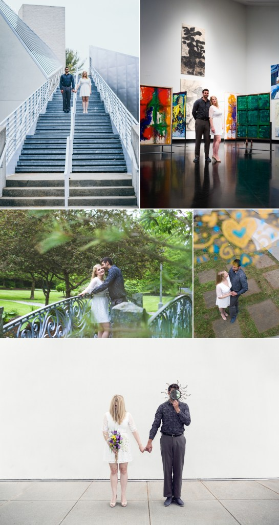 An engagement photo collage. Copyright Rebecca Gatto 2018