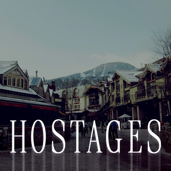 "Cover image for the short story, ""Hostages""."