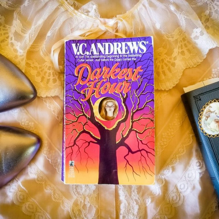Flatlay book images for DARKEST HOUR by V.C. Andrews