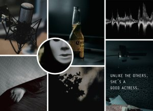 "Moodboard for ""The Phantom of the Podcast"""