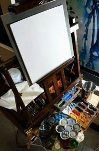 """Ready to start throwing paint.. live paint/quick draw - 10"""" x 10"""", 3 hours"""
