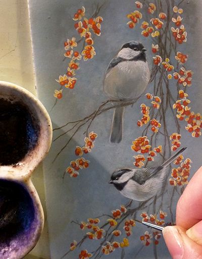 Peek In The Studio – Finishing Touches On Little Paintings