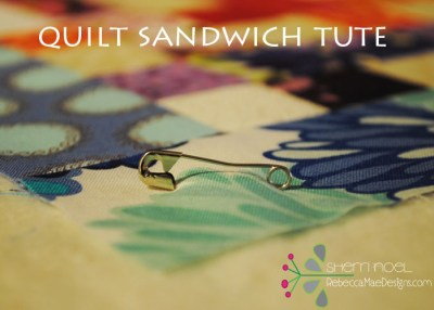 how to make a quilt sandwich