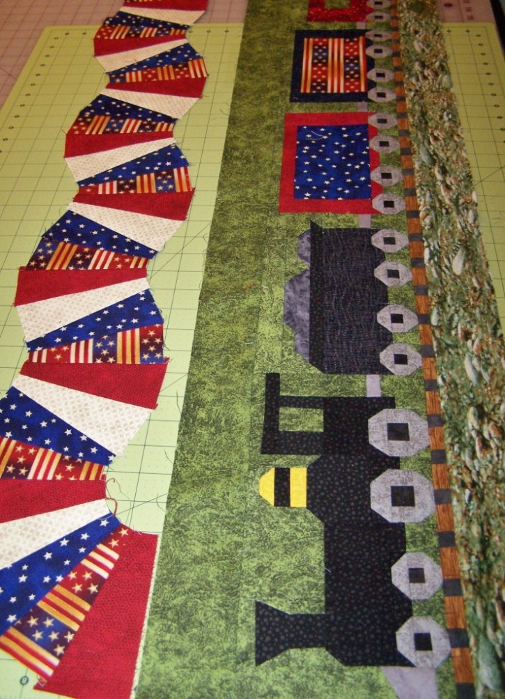 train row for quilt