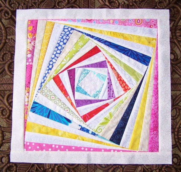 log cabin quilt block twist tutorial