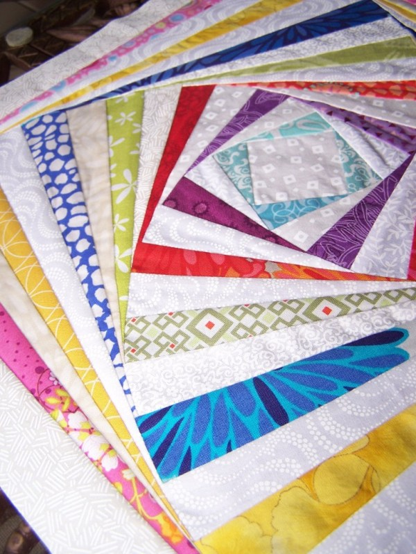 log cabin twist quilt block of month tutorial