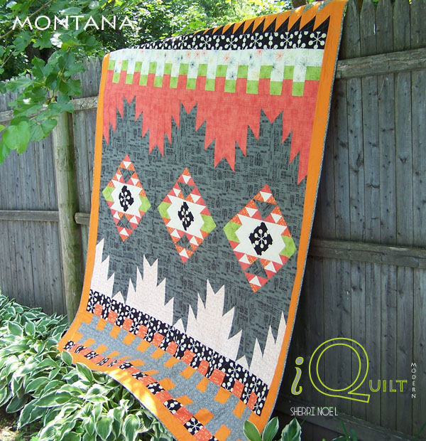 #iquilt modern native quilt pattern