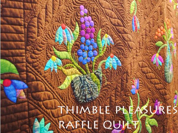 iQuilt ~ Batik applique quilt