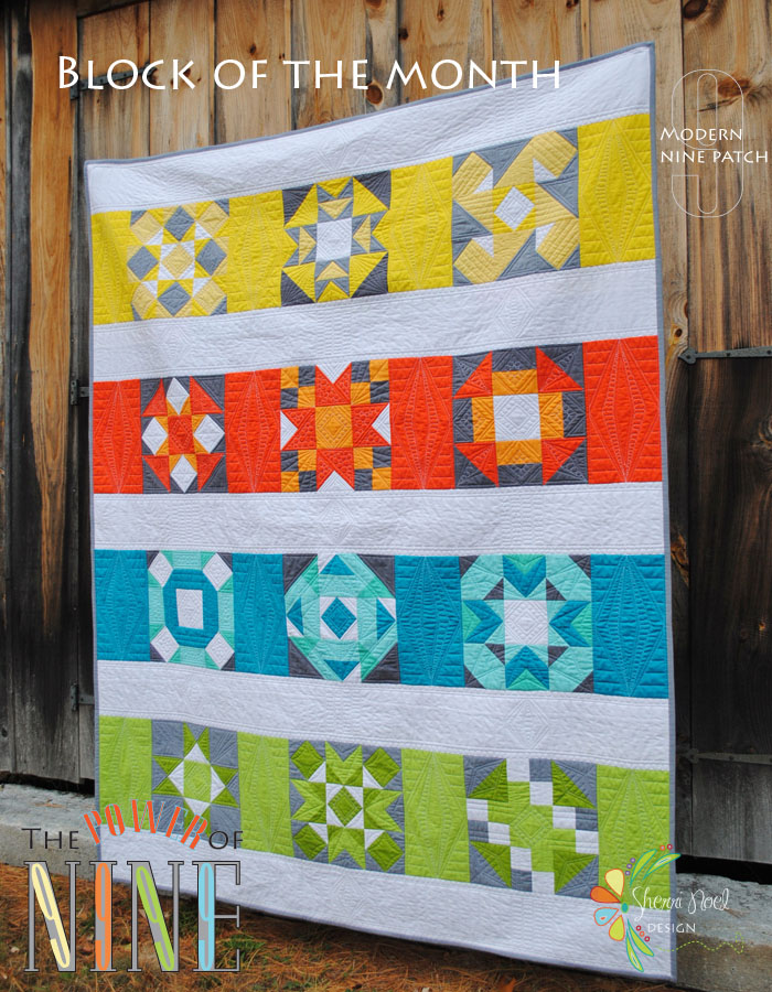 Modern block of the month festival for Modern house quilts