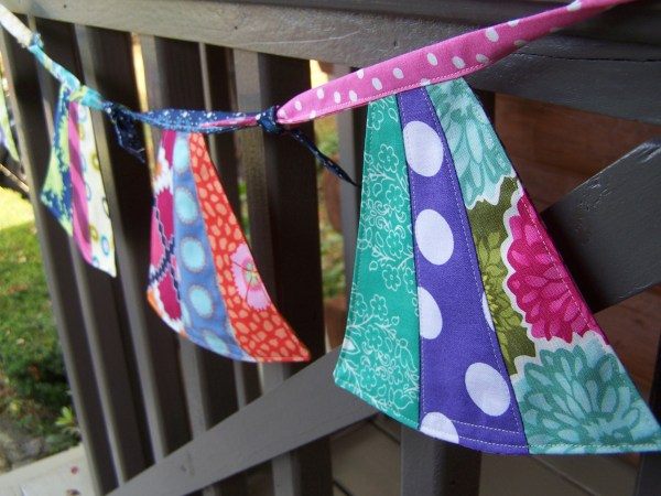 sewing a bunting