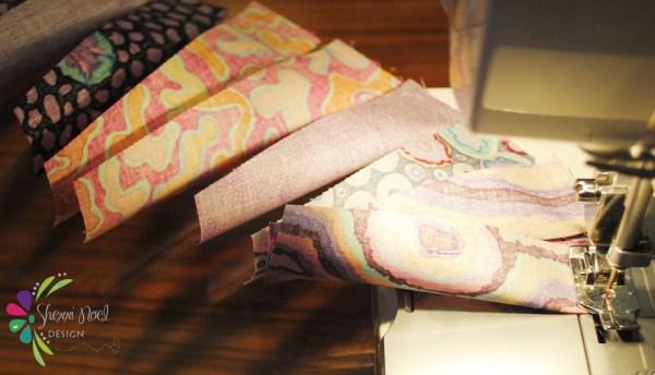 chain stitching wedge quilt block