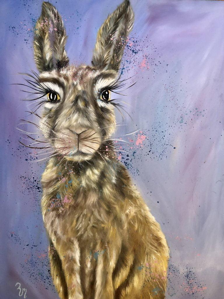 """Martha Hare"" deep edged canvas"