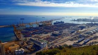 Cargo Dock - view from Castell de Montjuic